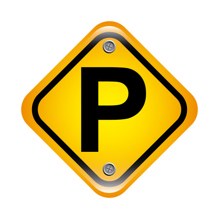 parking signal over white  background vector illustration Vector