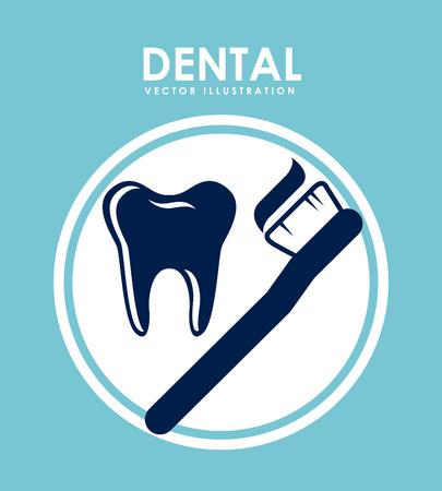 dental design over blue background vector illustration Illustration