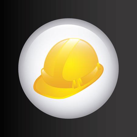 advertising construction: under construction design over black background vector illustration Illustration