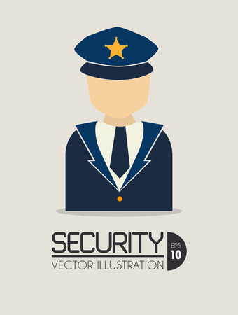 Security design over beige background, vector illustration