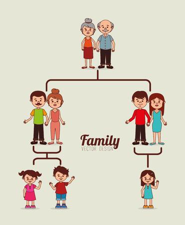 homelike: Family  design over yellow background, vector illustration Illustration