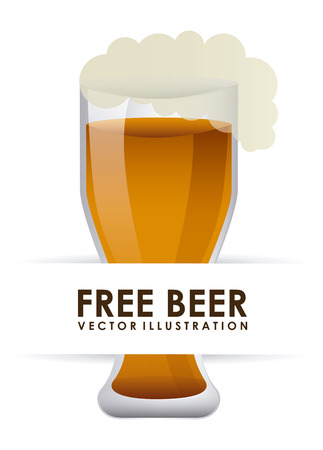beer design over white  background vector illustration Vector