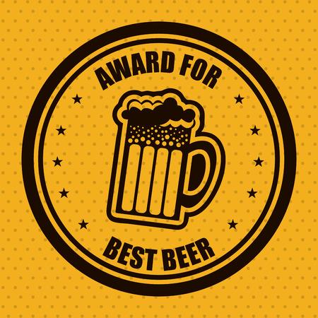 beer design over orange  background vector illustration