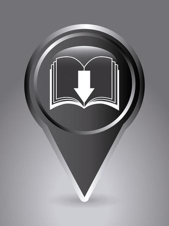 electronic publishing: eBook design over gray  background, vector illustration
