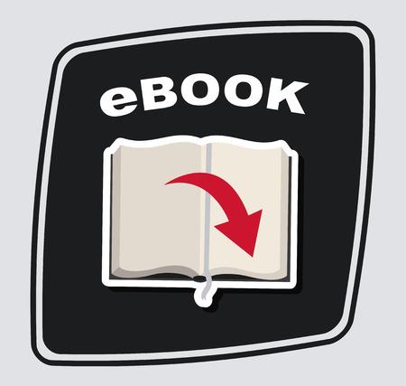 publish: eBook design over  gray  background, vector illustration