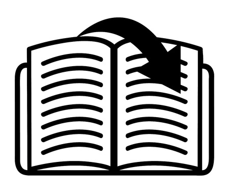 electronic publishing: eBook design over white  background, vector illustration Illustration