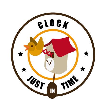 cuckoo clock: Ilustraci�n de un reloj de cuco Vectores