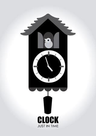 reloj cucu: Ilustraci�n de un reloj de cuco Vectores