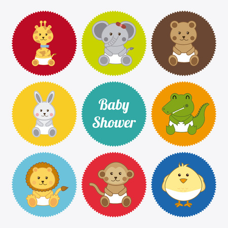 Illustration of various baby animals Vector