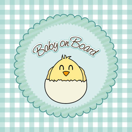 Illustration of a newly hatched chick