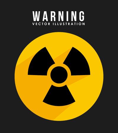 radioactive sign: Illustration of radioactive sign
