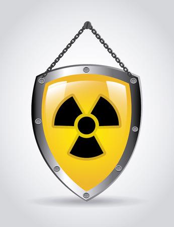 Illustration of radioactive shield Illustration