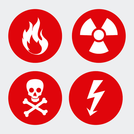 Various caution symbol icons Vector