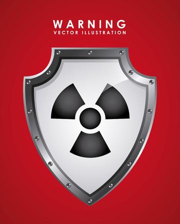 radioactive symbol: Ilustraci�n de la se�al de advertencia con el s�mbolo radiactivo Vectores