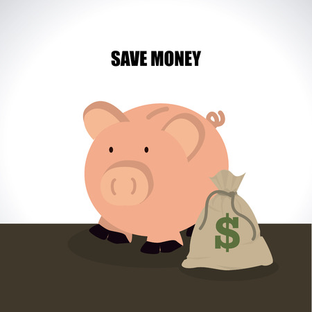 piggy bank over gray background, vector illustration Vector