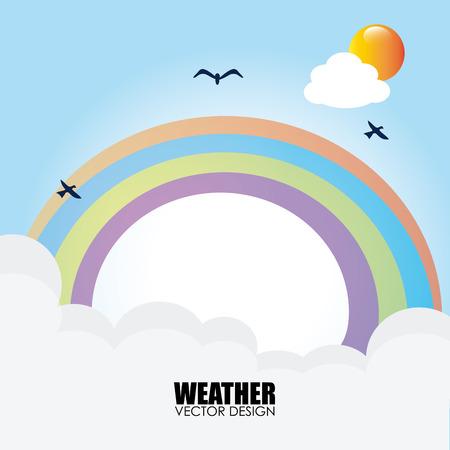 rainbow sky: Illustration of a rainbow in the sky