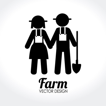 Illustration of farm workers Vector