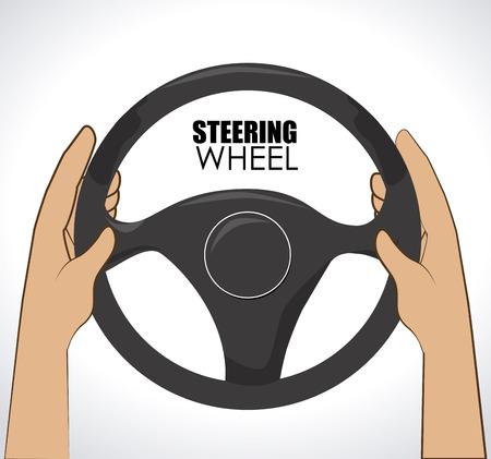 Illustration of hands on the steering wheel