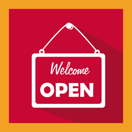 welcome sign: A welcome sign Illustration