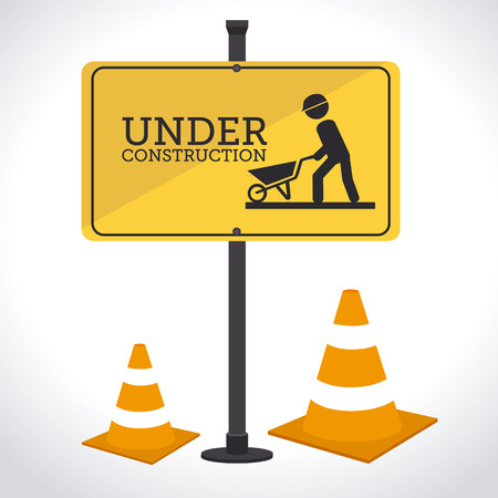 advertising construction: Illustration of construction site