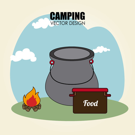 camping site: Illustration of a camping site