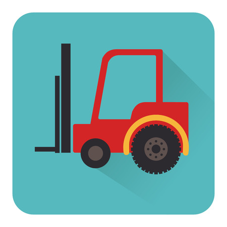 forklift truck: Illustration of a forklift truck