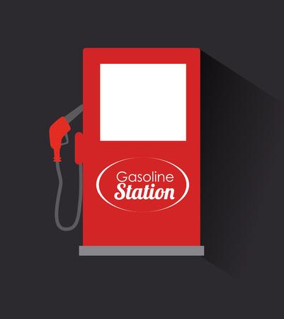 gasoline station: illustrazione di stazione di benzina Vettoriali