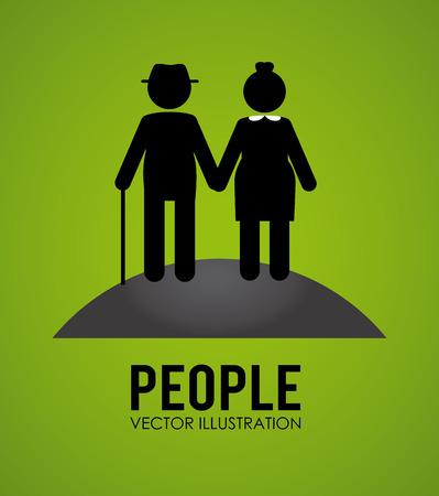 elderly people: Illustration of elderly people