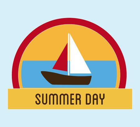 summer day: Ilustraci�n del d�a de verano Vectores