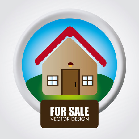 house for sale: Illustration of house for sale