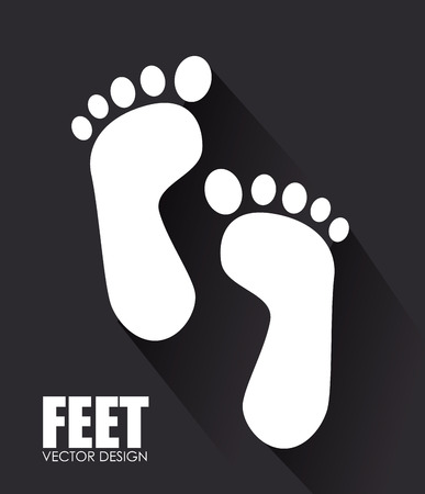 foots: Illustration of a pair of footprints
