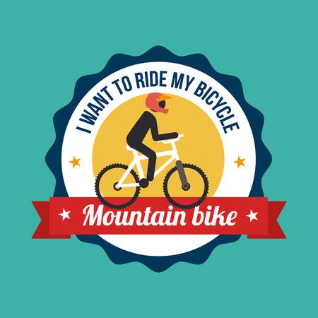Illustration of a mountain bike