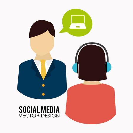 two people talking: Social media design of two people talking