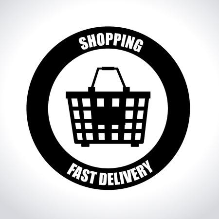 fast money: Illustration of a shopping basket Illustration