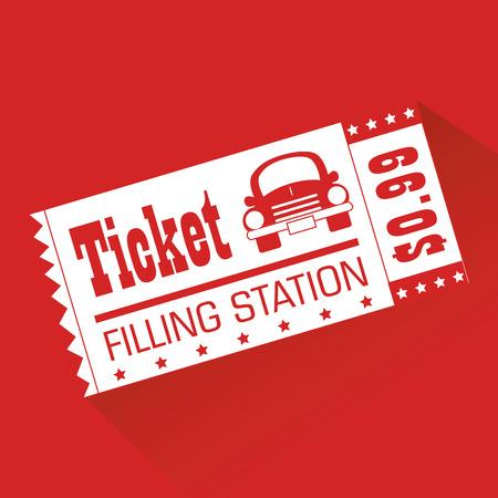 filling station: Illustration of a filling station ticket