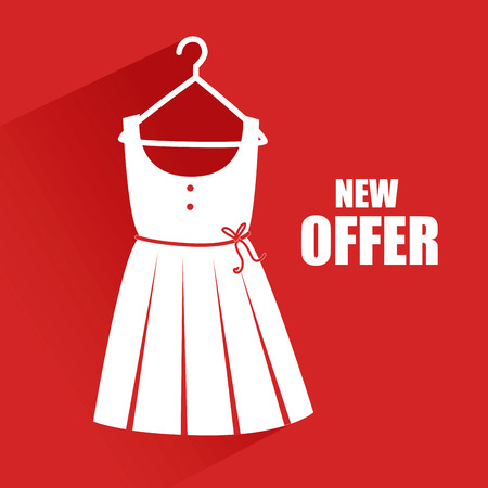 Illustration of a dress on offer Vector