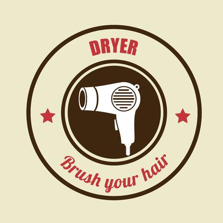 electric dryer: Illustration of hair dryer