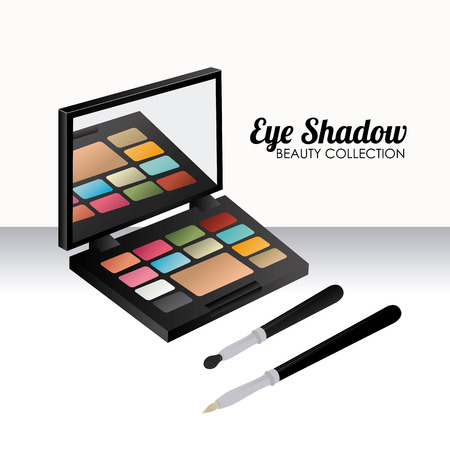 eye shadow: eye shadow over white background,vector illustration