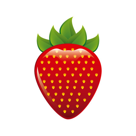 healt: strawberry fruit design over white background illustration