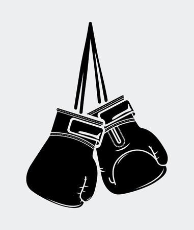 gloves: boxing design over white background illustration