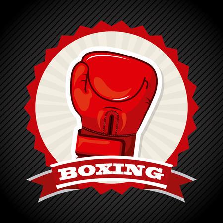 boxing design over black background illustration