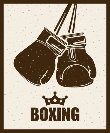 boxing design over beige background illustration Ilustracja