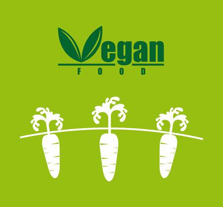 aliment: vegan food over green background illustration
