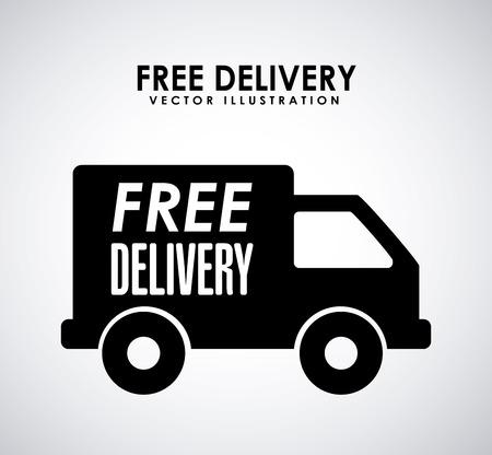 conception de la livraison gratuite sur fond gris illustration
