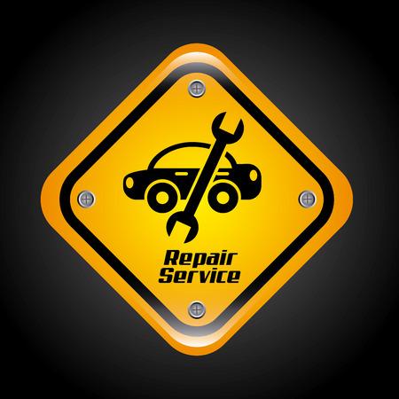 mechanic car: repair service design over background illustration