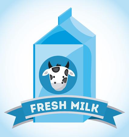 pasteurization: milk design over blue background illustration