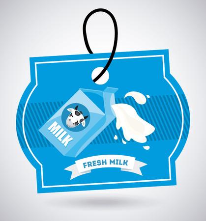 pasteurization: milk design over gray background illustration Illustration