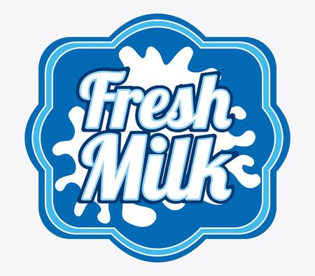 pasteurization: fresh milk design over white background illustration