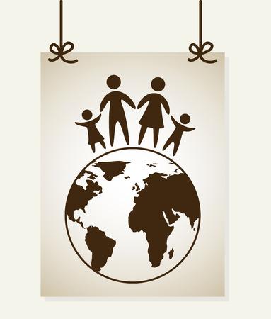 family design over white background illustration