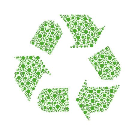 enviromental: dise�o de reciclaje sobre fondo blanco Ilustraci�n Vectores